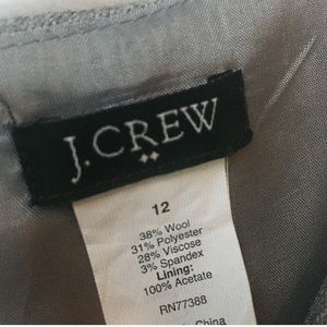 J. Crew Dresses - J. Crew Gray Wool Leigh Sheath Career Dress